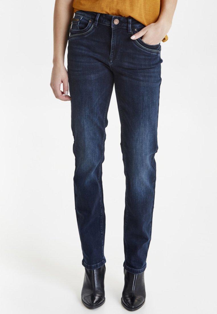 PULZ - PZKAROLINA - Straight leg jeans - Dark blue