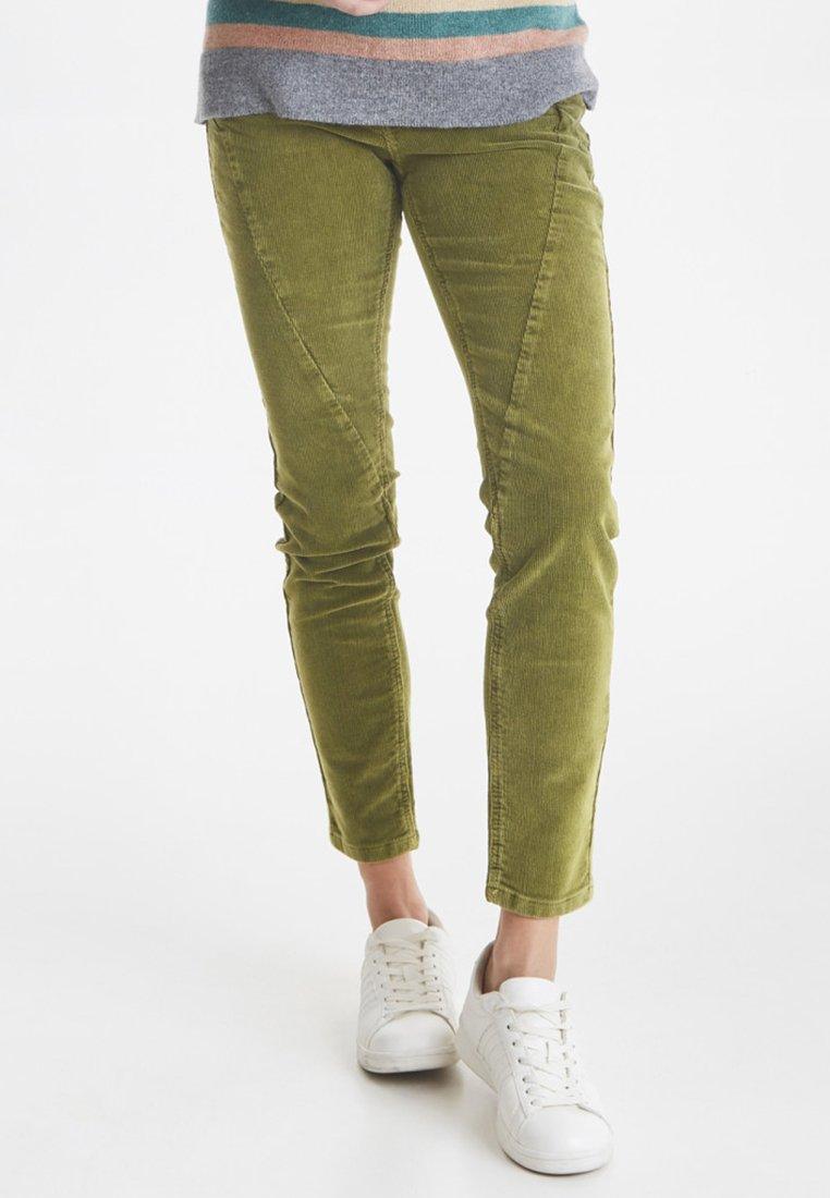 PULZ - PZROSITA  - Pantalon classique - crocodile green