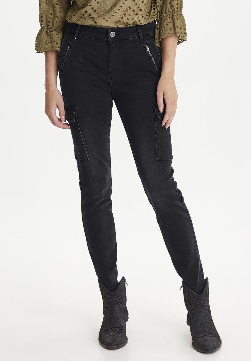 PULZ - PXEMMA - Jeans Skinny - black denim