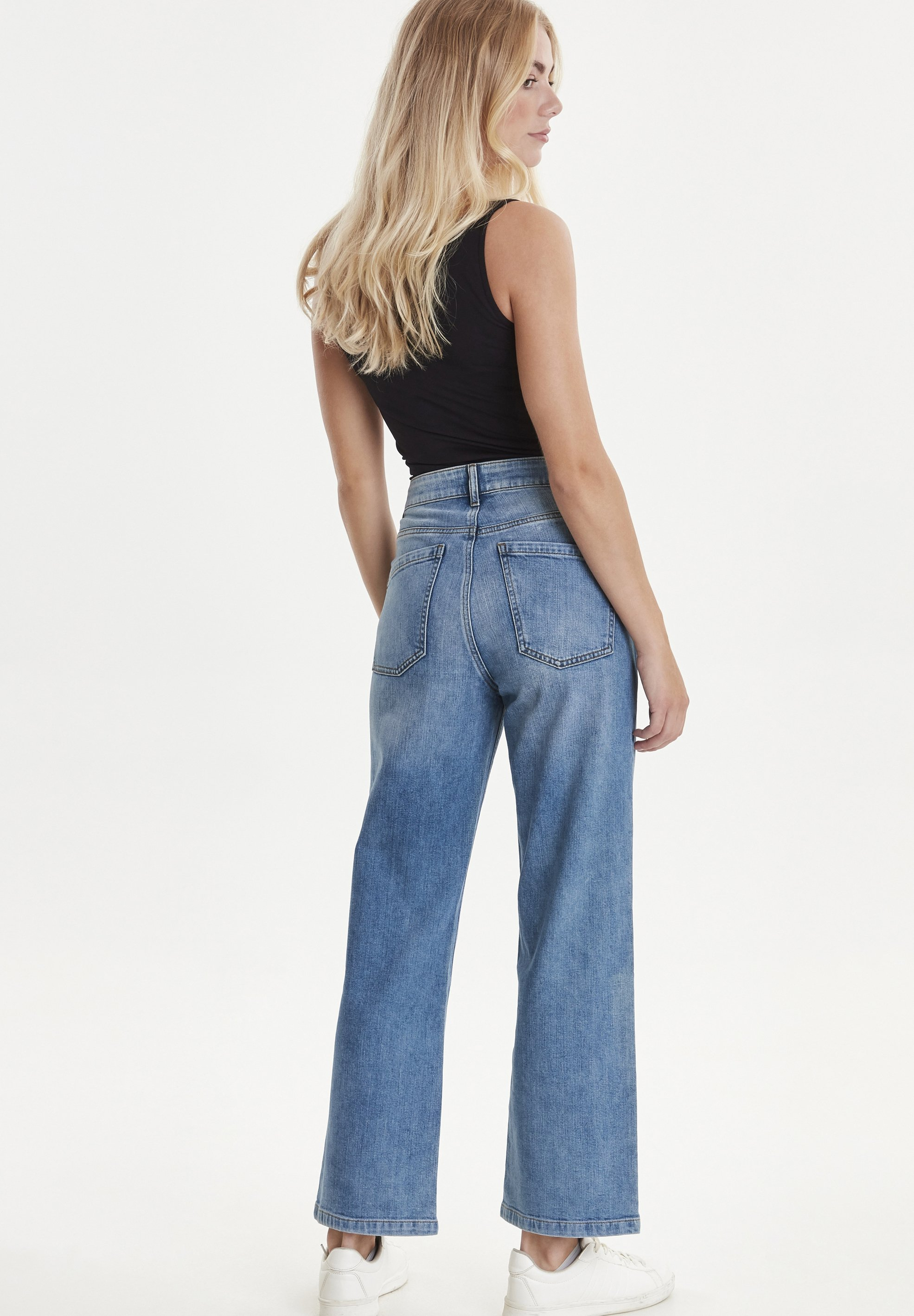 PULZ PZLIVA - Jeans Bootcut - light blue denim