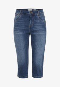 PULZ - PZCARMEN - Jeans Short / cowboy shorts - medium blue denim - 6
