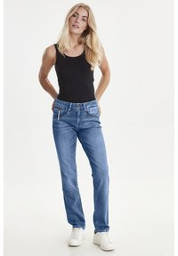 PULZ - PZKAROLINA - Jeans Slim Fit - medium blue denim - 1