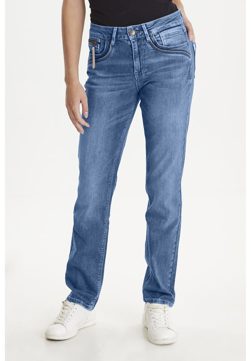 PULZ - PZKAROLINA - Jeans Slim Fit - medium blue denim