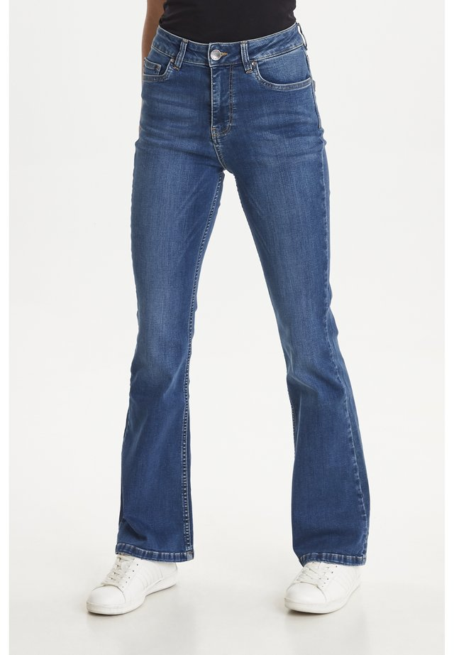 PZLIVA - Flared jeans - light blue denim