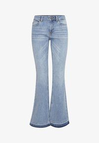PULZ - PZEMMA  - Flared Jeans - light blue denim - 6