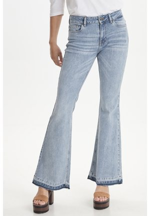 PZEMMA  - Flared Jeans - light blue denim
