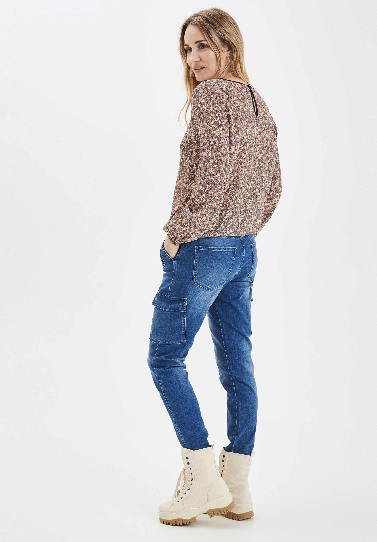 PULZ PXELVA - Jeans slim fit - medium blue denim