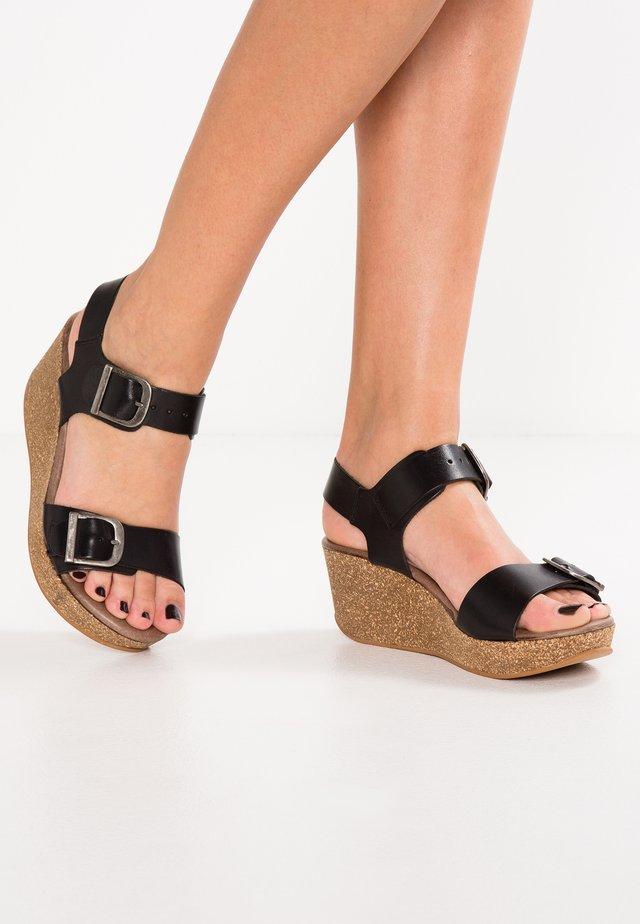 CAMILLA - Korkeakorkoiset sandaalit - black