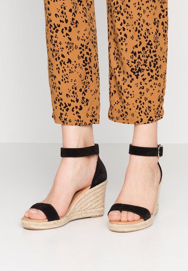 ERIN - Platform sandals - black