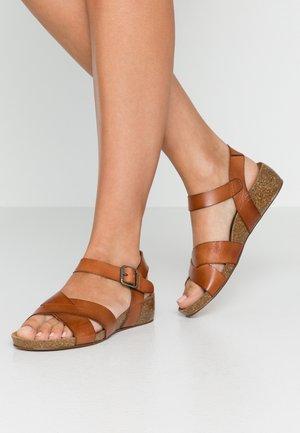 SKYLER - Wedge sandals - tan