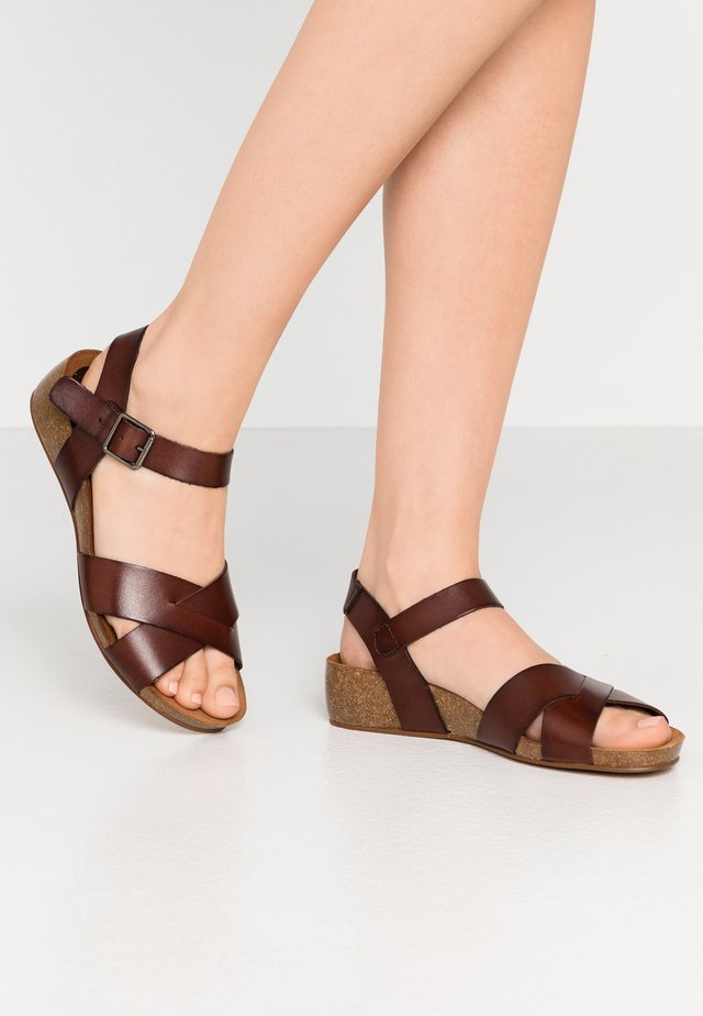 SKYLER - Wedge sandals - brown
