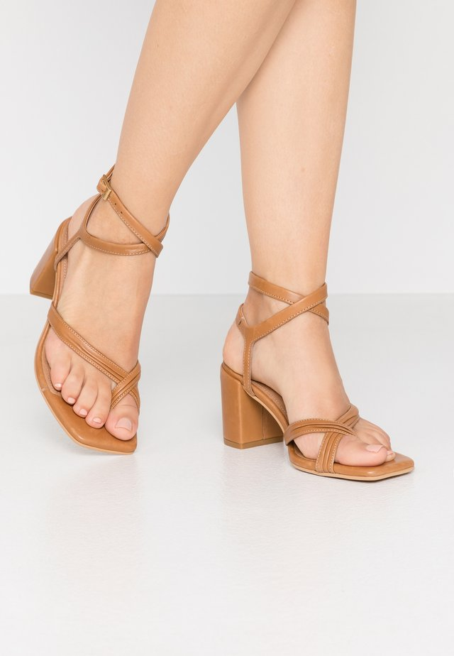 AISHA - T-bar sandals - tan