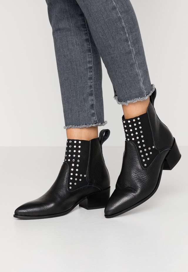 ESTELLE - Cowboy/biker ankle boot - black