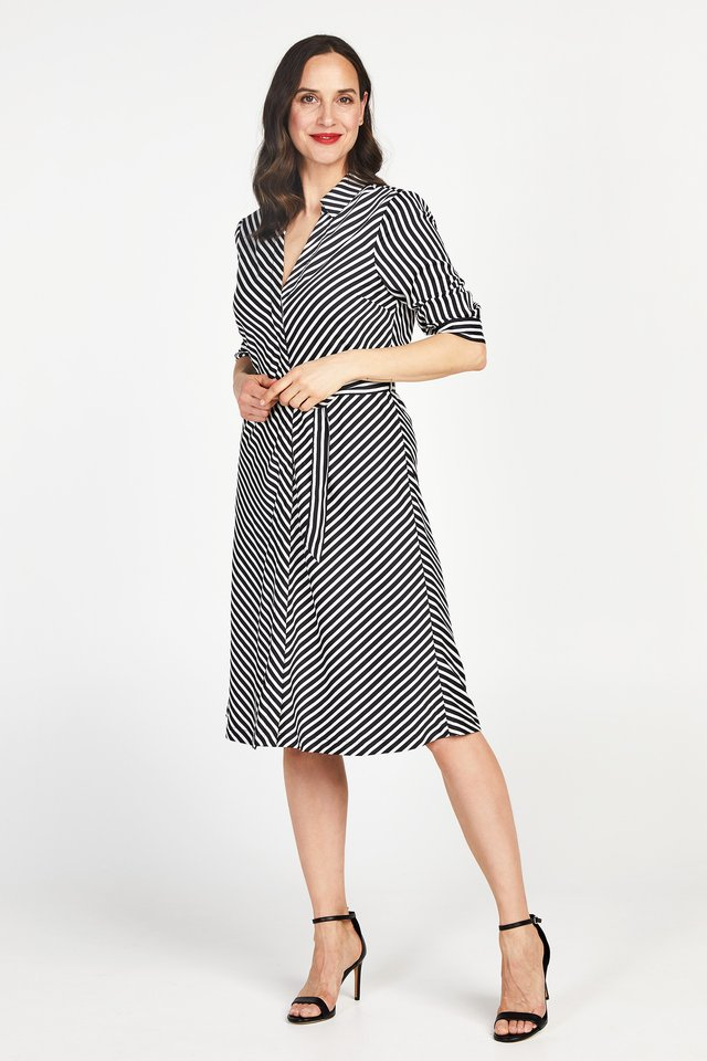 DIVAAN - Korte jurk - black/white