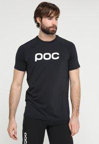 POC - ESSENTIAL ENDURO TEE - T-Shirt print - uranium black - 0