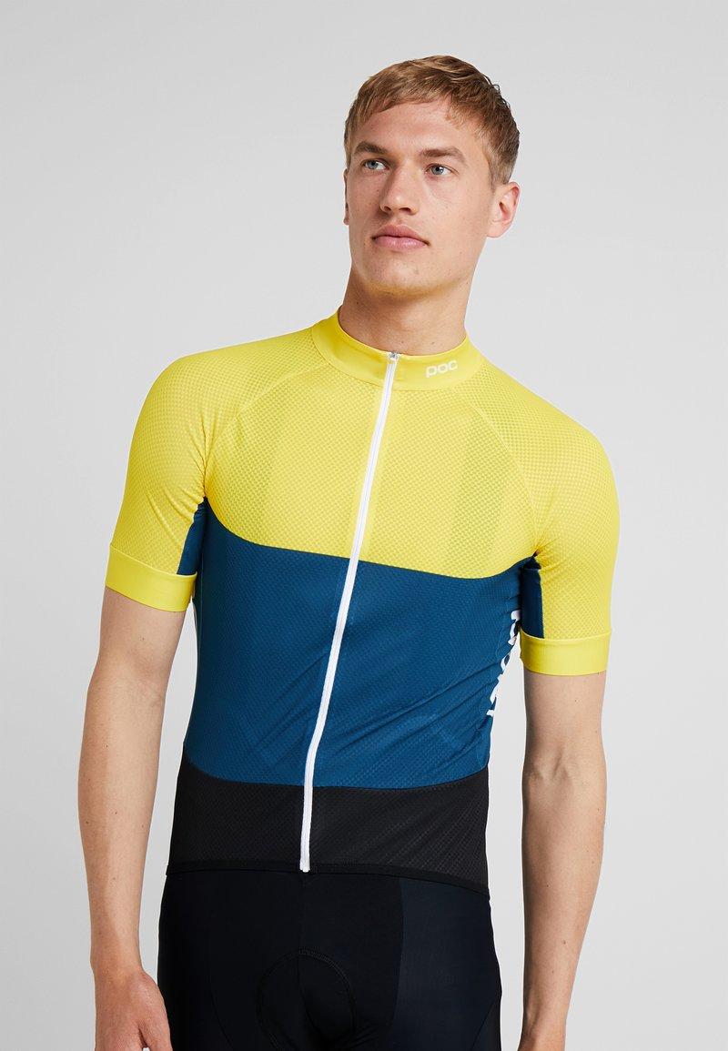 POC - ESSENTIAL ROAD LIGHT  - Print T-shirt - sulphite yellow/draconis blue