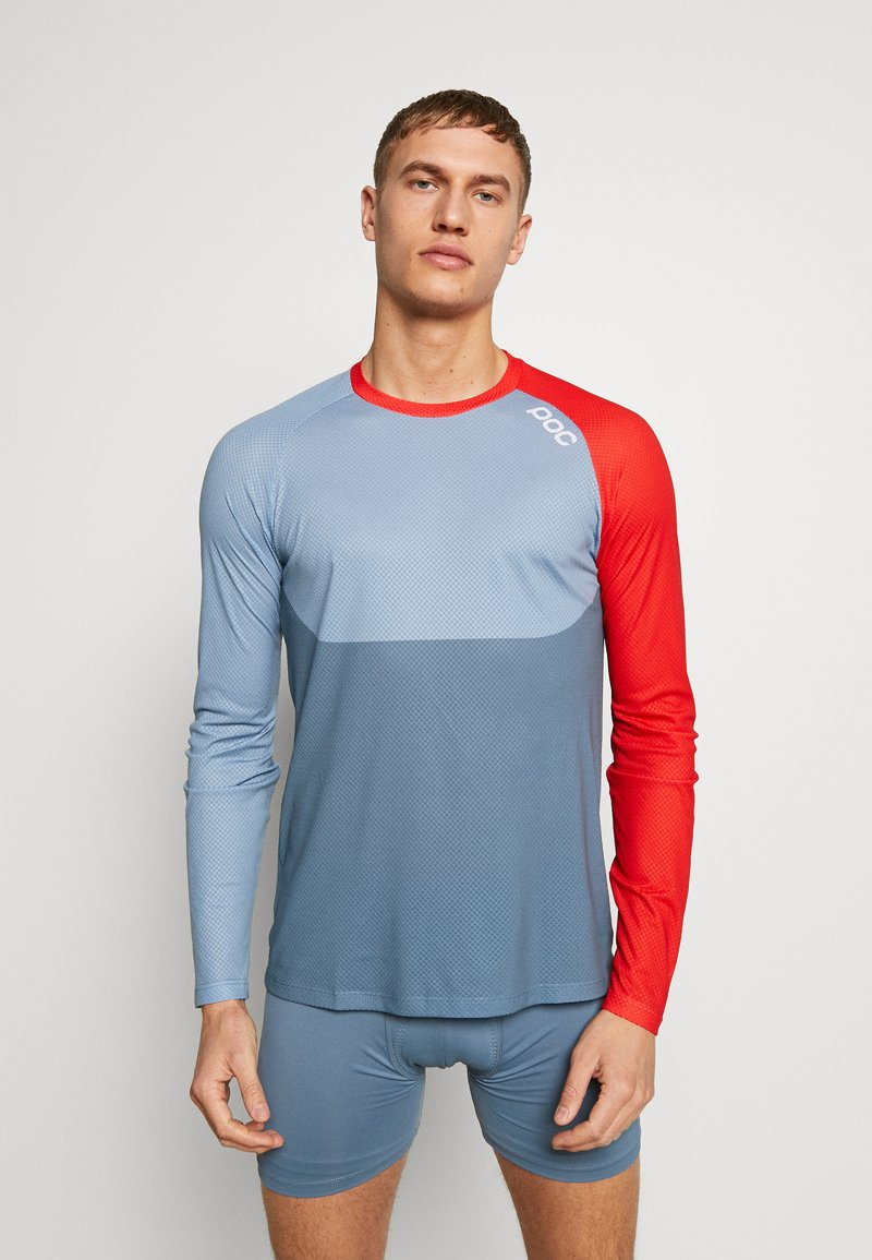 POC - PURE - Langarmshirt - calcite blue/prismane red