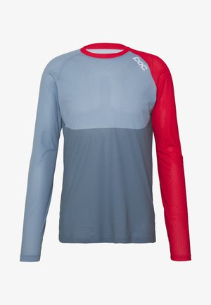 PURE - Langarmshirt - calcite blue/prismane red