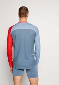 POC - PURE - Langarmshirt - calcite blue/prismane red - 2