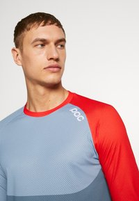 POC - PURE - Langarmshirt - calcite blue/prismane red - 3
