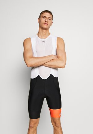 ESSENTIAL ROAD BIB SHORTS - Tights - uranium black/hydrogen white