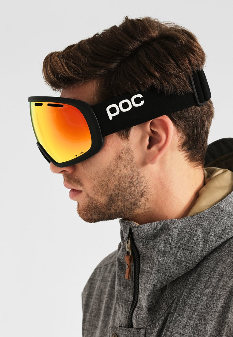 POC - FOVEA CLARITY - Masque de ski - uranium black/spektris orange