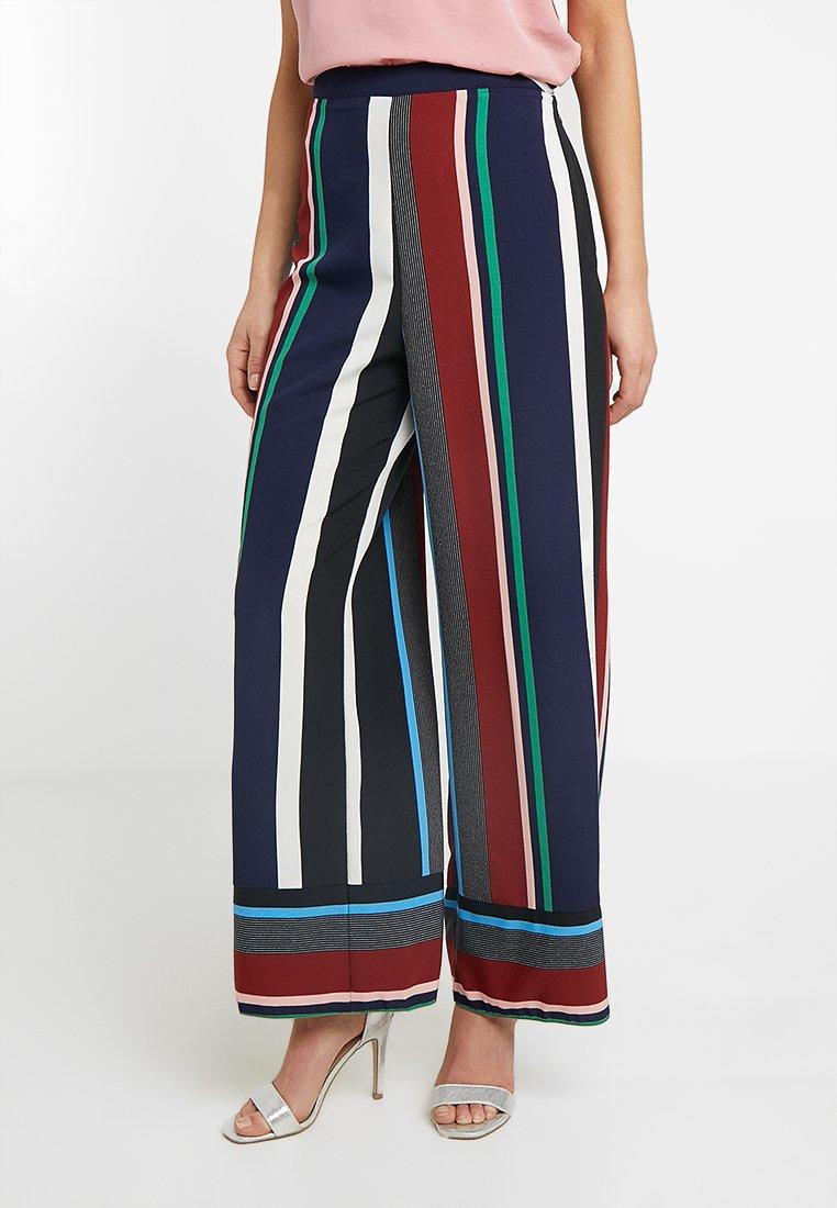 Miss Selfridge Petite - STRIPE WIDE LEG TROUSER - Pantalon classique - multi-coloured