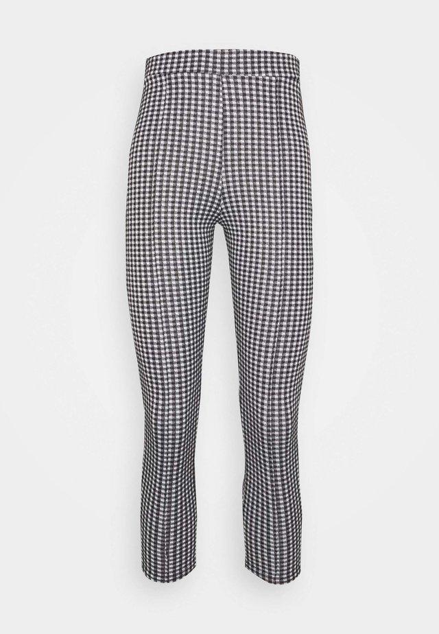 CHECK PONTE TROUSER - Trousers - mono