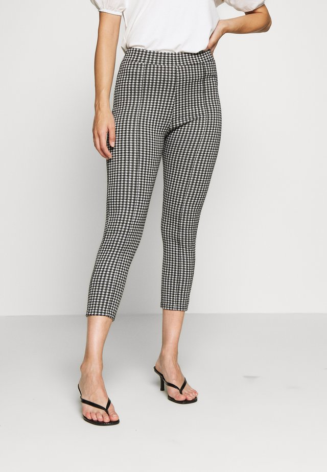 CHECK PONTE TROUSER - Trousers - mono