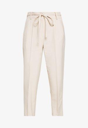 BELTED PAPERBAG - Kalhoty - grey