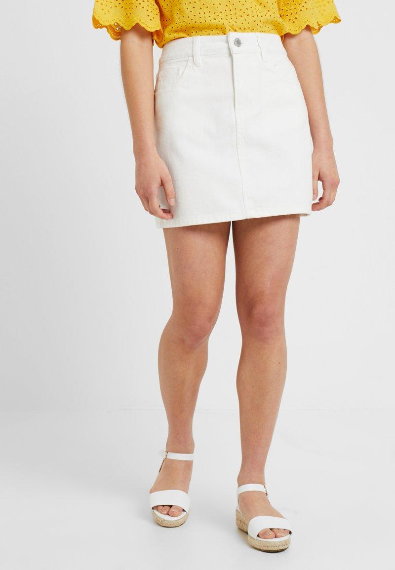 Miss Selfridge Petite - SKIRT - Denimová sukně - ecru