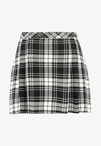 Miss Selfridge Petite - CHECK KILT SKIRT - A-line skirt - mono - 4