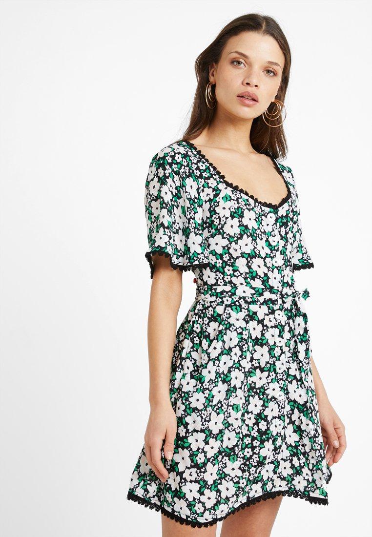 Miss Selfridge Petite - POLOMA BUTTON DRESS - Vestido camisero - green