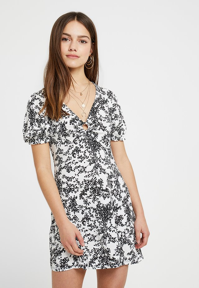 DITSY PRINT HOOP DRESS - Vestito di maglina - black/white