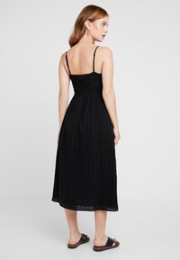 Miss Selfridge Petite - STRAPPY BUTTON SUNDRESS - Długa sukienka - black - 3