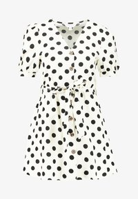 Miss Selfridge Petite - SPOT DRESS - Abito a camicia - white - 4