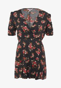 Miss Selfridge Petite - FLORAL WRAP DRESS - Robe d'été - black - 5