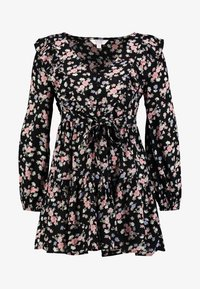 Miss Selfridge Petite - SMOCK PRAIRIE PRINTED DRESS - Robe d'été - black - 4