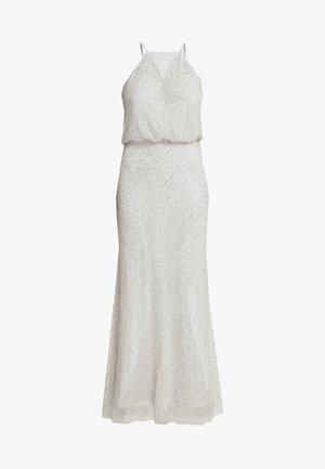 BEADED HALTER MAXI DRESS - Cocktail dress / Party dress - silver