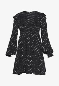 Miss Selfridge Petite - SHIRRED SPOT TEA DRESS - Kjole - black - 6