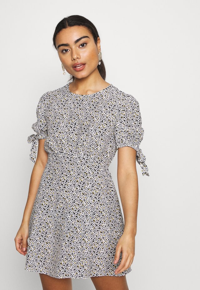 TIE SLEEVE DITSY TEA DRESS - Vestito estivo - multi