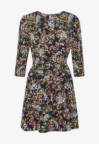 Miss Selfridge Petite - PRINTED SMOCK DRESS - Day dress - black - 4