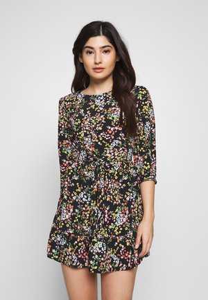 PRINTED SMOCK DRESS - Vestido informal - black