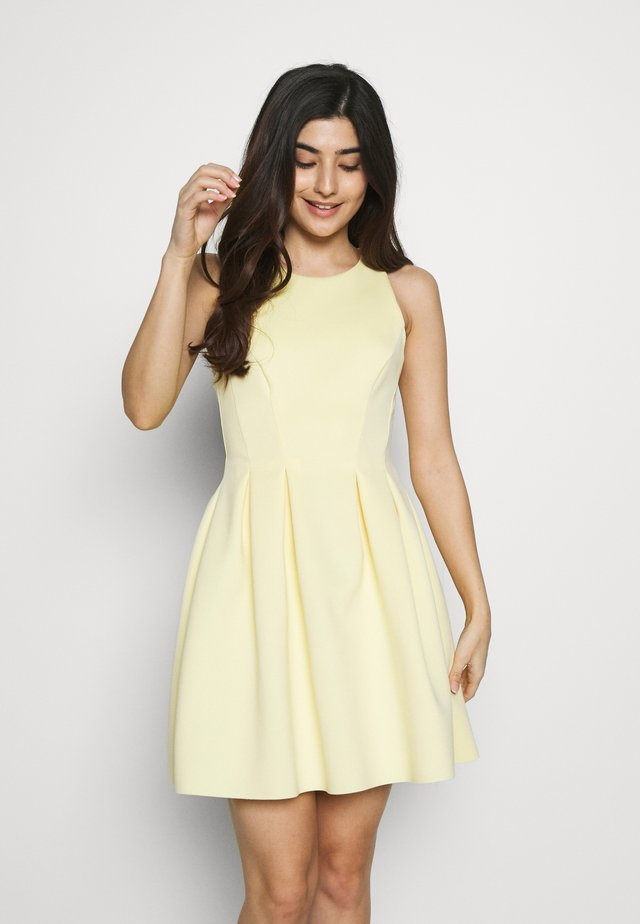 HIGH NECK SCUBA PROM DRESS - Cocktail dress / Party dress - yellow