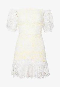 Miss Selfridge Petite - LACE BARDOT MINI DRESS - Cocktail dress / Party dress - lemon - 4