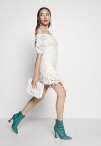 Miss Selfridge Petite - LACE BARDOT MINI DRESS - Cocktail dress / Party dress - lemon - 1