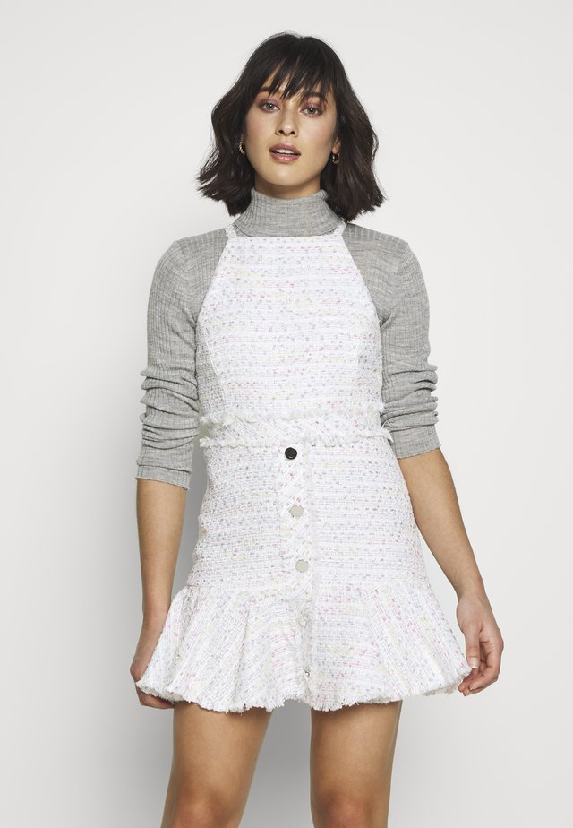 BOUCLE PINNY DRESS - Korte jurk - ivory