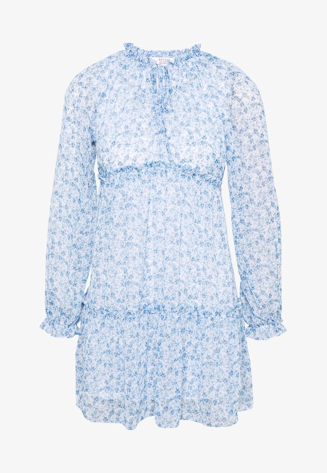 TIERRED SMOCK DRESS - Day dress - blue
