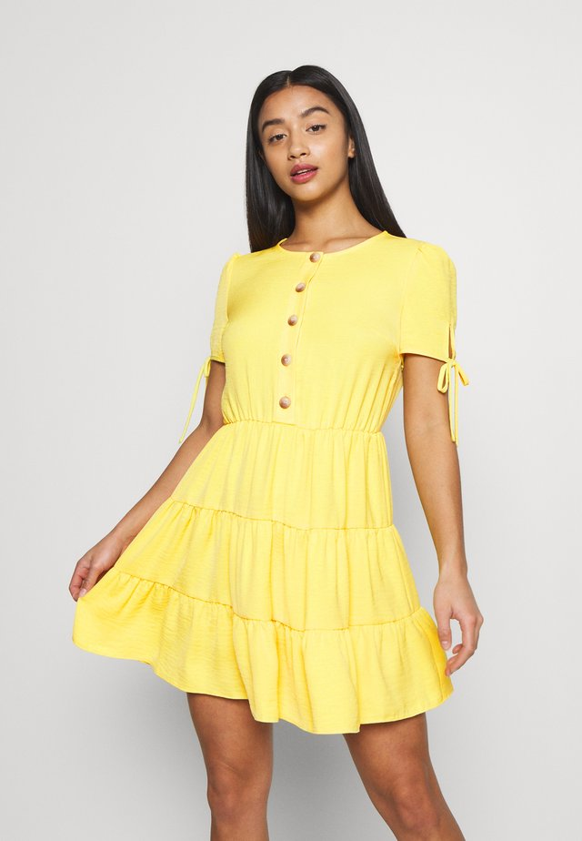 TIERRED DRESS - Shirt dress - yellow