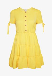Miss Selfridge Petite - TIERRED DRESS - Shirt dress - yellow - 6